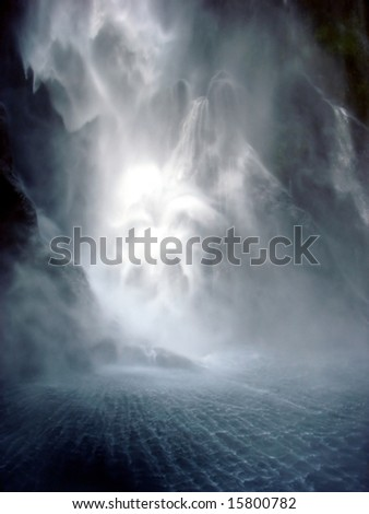 Dark waterfall