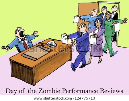 'Day of the Zombie Performance Reviews' boss