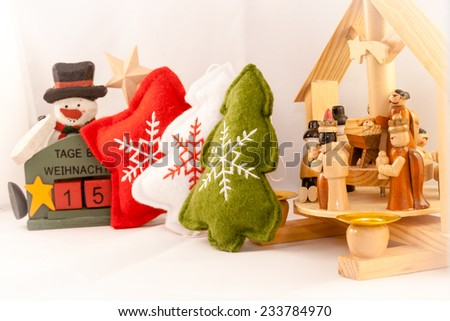 15 days at Christmas - stock photo