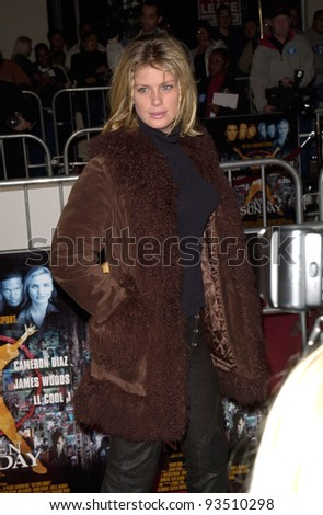 "16DEC99: Model RACHEL HUNTER at the world premiere, in Los Angeles, of Oliver Stone's ""Any Given Sunday"" which stars Al Pacino & Cameron Diaz.  Paul Smith / Featureflash - stock photo"