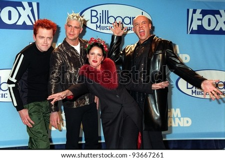 08DEC97:  Pop group AQUA with lead singer LENA GROWFORD at the Billboard Music Awards at the MGM Grand in Las Vegas.