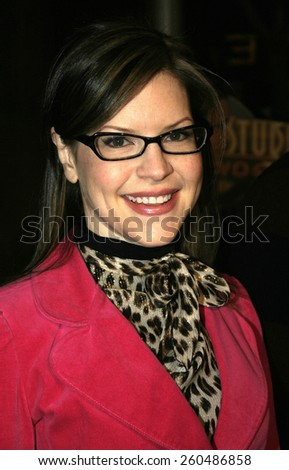 16 December 2004 - Hollywood, California - Lisa Loeb. The premiere of 'Meet The Fockers' at the Universal Amphitheatre Universal Studios in Hollywood.  - stock photo