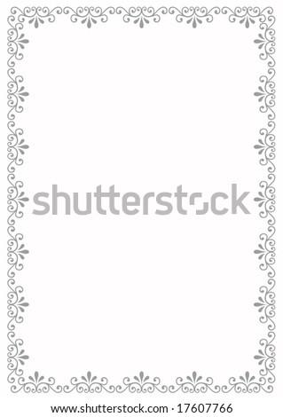 Decorative border - stock photo