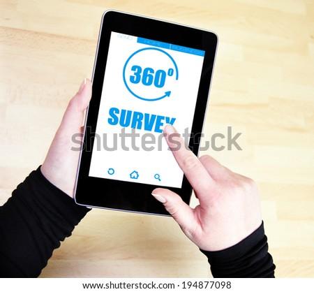 360 degrees Survey concept - stock photo