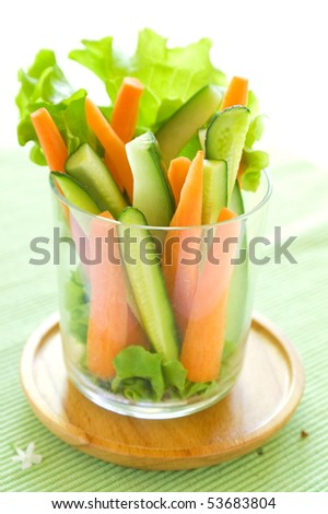 Delicious fresh vegetables  sticks for snack
