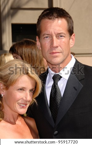 """Desperate Housewives"" star JAMES DENTON & wife Mary at the 2006 Creative Arts Emmy Awards at the Shrine Auditorium, Los Angeles. August 19, 2006  Los Angeles, CA  2006 Paul Smith / Featureflash"
