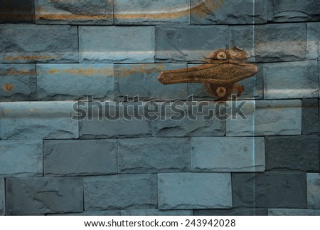 """detail vintage car"" Mural. The stone painting  concept"
