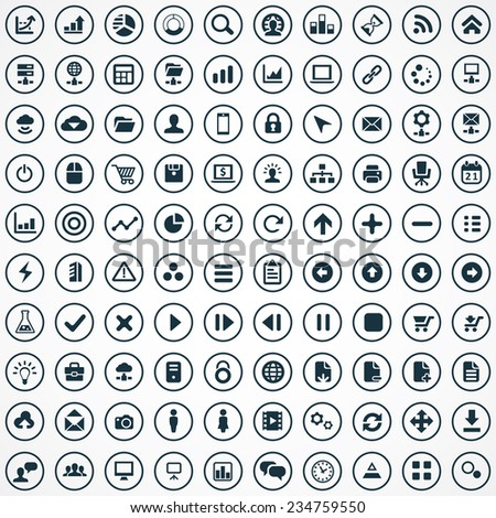 100 development, soft icons big universal set