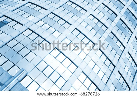 Diagonal background of glass windows - stock photo