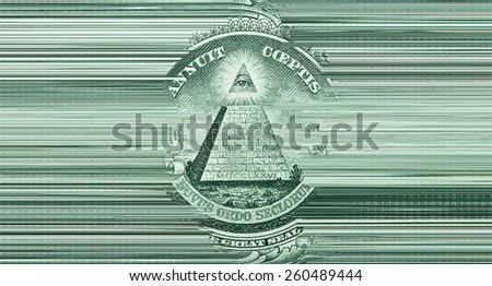 digital money stream - glitch art - stock photo