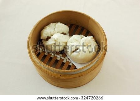 dim sum bamboo steamer chinese bun stock photo royalty free