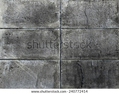 dirty concrete block wall background texture - stock photo