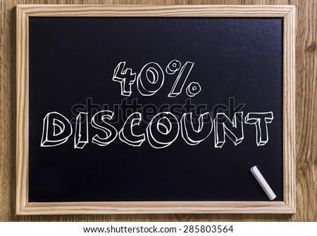 40%  discount - New chalkboard with 3D outlined text - on wood