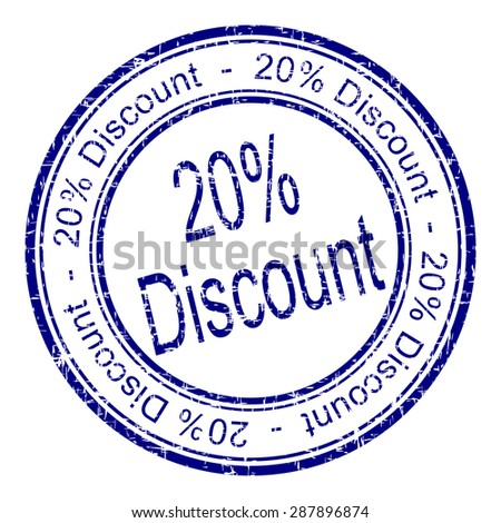 20% Discount rubber stamp