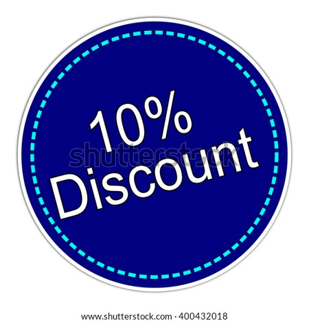 10% Discount sticker - stock photo