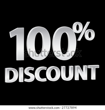 100% Discounts whit black background