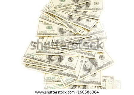 100 dollar bank note background