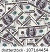 100 dollars banknotes background - stock photo