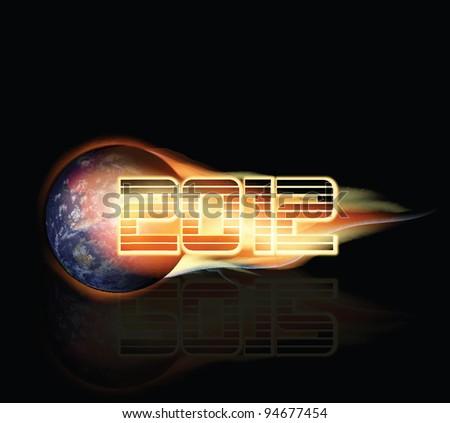 2012 Doomsday Background - stock photo