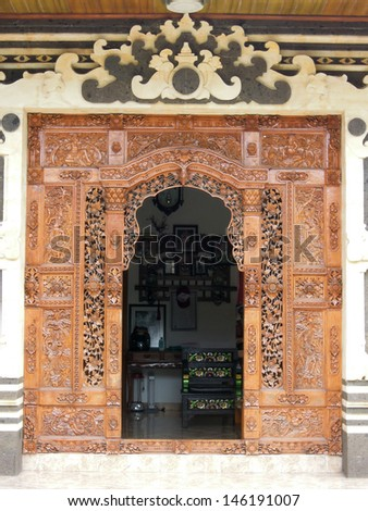 Door of a tipical balinese house