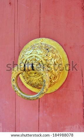 door of Buddhist temple  - stock photo