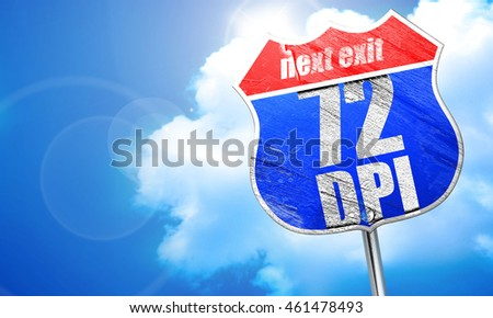 72 dpi, 3D rendering, blue street sign