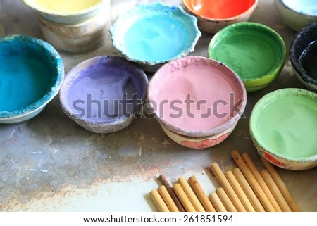 draw paints - stock photo