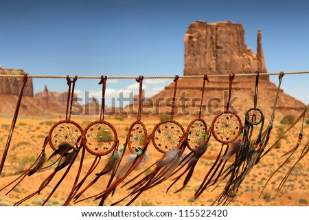 dream catcher against the background of Monument Valley, Utah, USA - stock photo