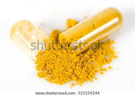 drug capsule yellow color herb