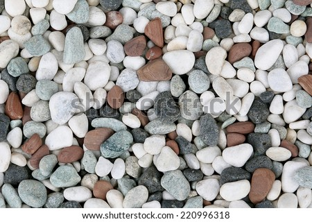 Dry round stones background, texture - stock photo