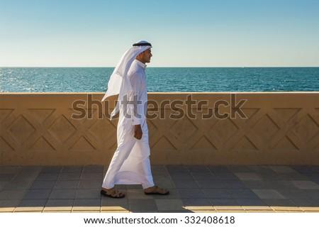 Dubai Marina. UAE. November 7, 2013 Palm Jumeirah - stock photo