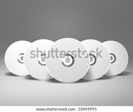 5 DVDs - stock photo
