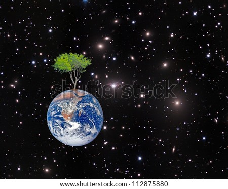 Earth.Elements of this image furnished by NASA - stock photo