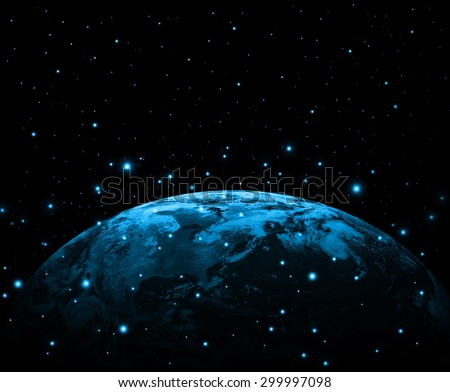Earth on a background of the sky. Best Internet Concept of global business from concepts series. (Elements of this image furnished by NASA) - stock photo