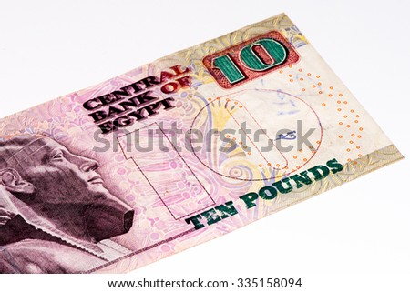 10 Egyptian pound bank note. Egyptian pound is the national currency of Egypt
