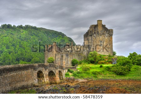 1 Eilean Donan Castle. one of the most iconic images of Scotland. - stock photo