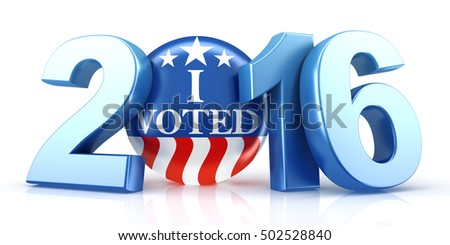 2016 election - 3d rendering