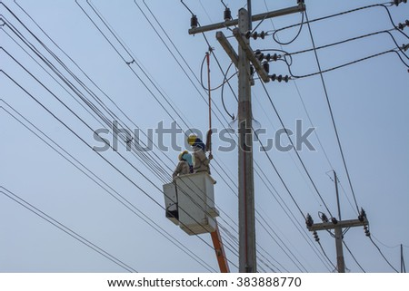 electrician repair high voltage