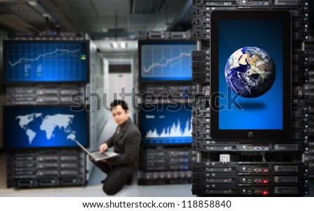 : Elements of this image furnished by NASA - stock photo