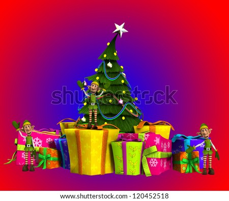 elves with Christmas Presents