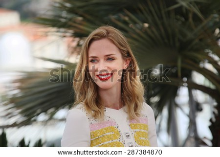 Emily Blunt  attends a photocall for 'Sicario' during the 68th annual Cannes Film Festival on May 19, 2015 in Cannes, France. - stock photo