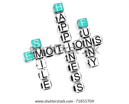 Emotions Crossword text on white background