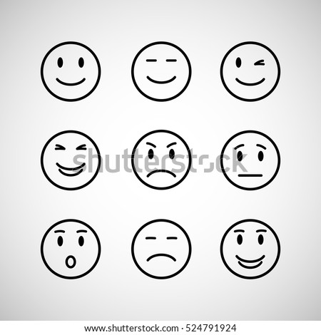 emotions face set isolated on a background