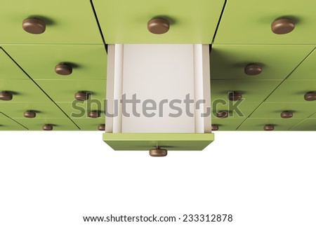 Empty 3D drawer  - stock photo