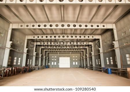 Empty warehouse - stock photo