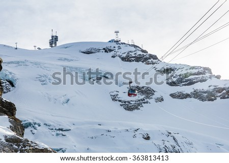?ENGELBERG, SWITZERLAND - DECEMBER 11: Outside views of the infrastructure of the ski resort Engelberg on December 11, 2015. Engelberg is a popular Ski resort in the central Swiss alps.