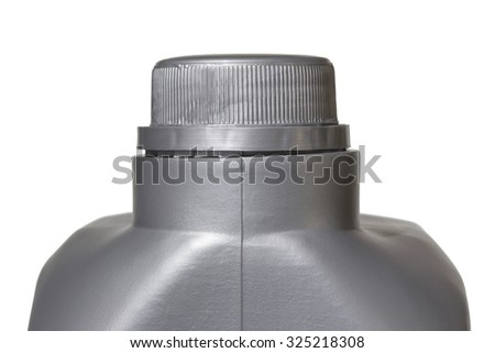 Engine oil canister close up - stock photo