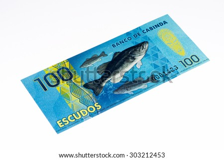 100 escudos bank note. Escudo is the currency of Cabinda province of Angola