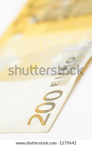 200 euro close up - stock photo