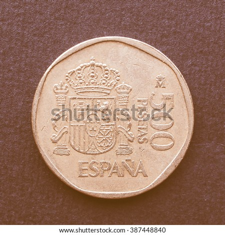 Euro coin (currency of the European Union) vintage